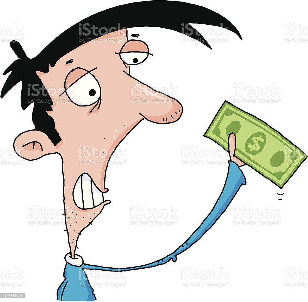 Last Dollar vector art illustration