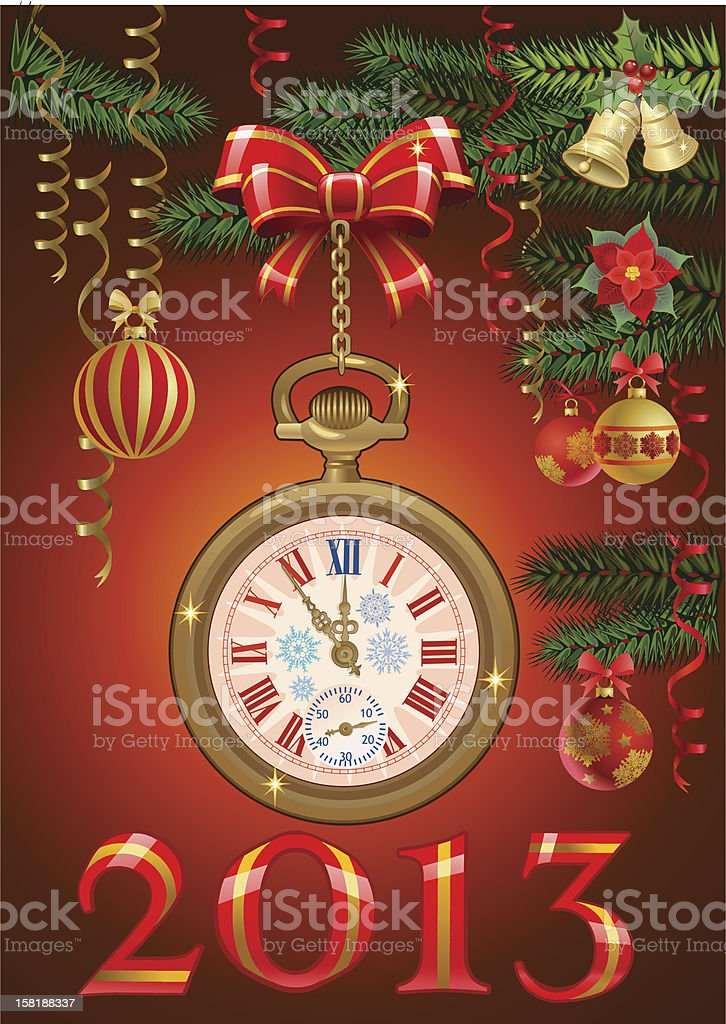 Last moments of the old year royalty-free stock vector art