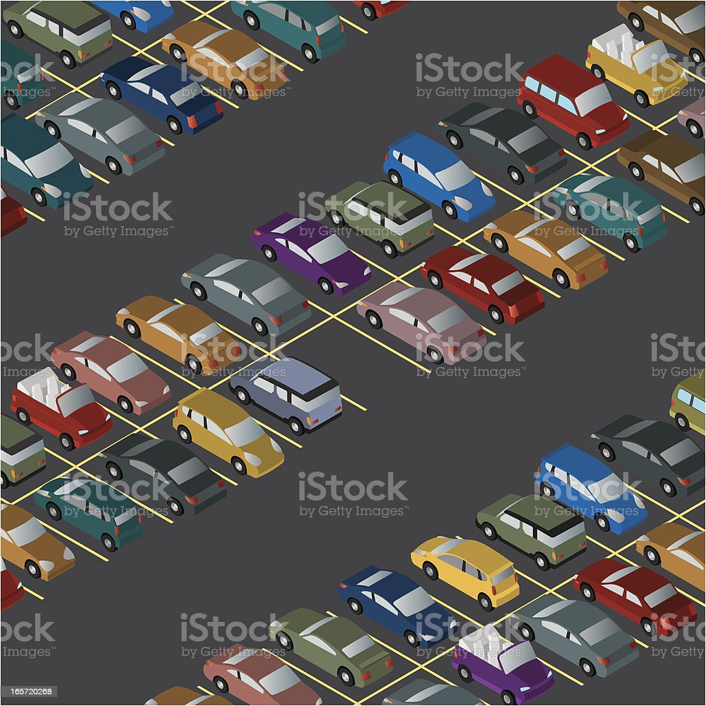 Last Parking Space royalty-free stock vector art
