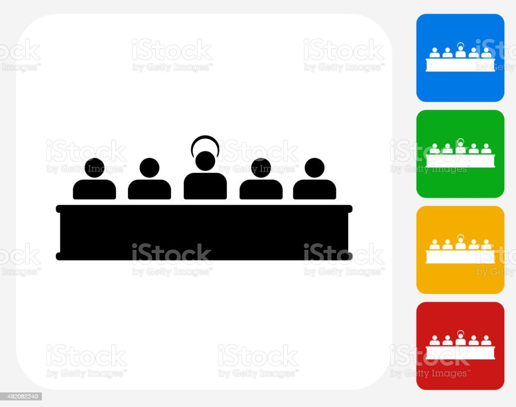 Last Supper Icon Flat Graphic Design vector art illustration