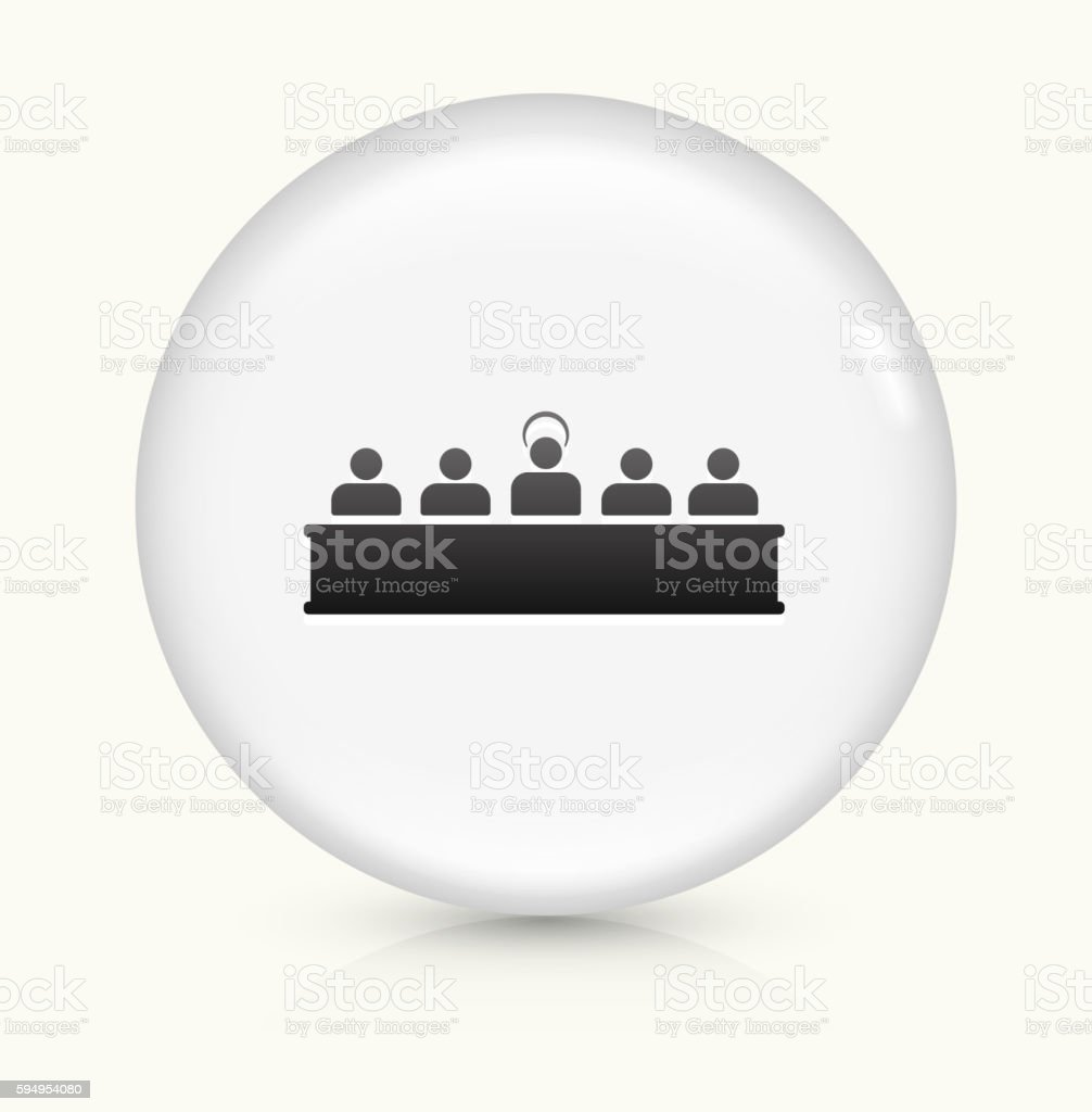 Last Supper icon on white round vector button vector art illustration