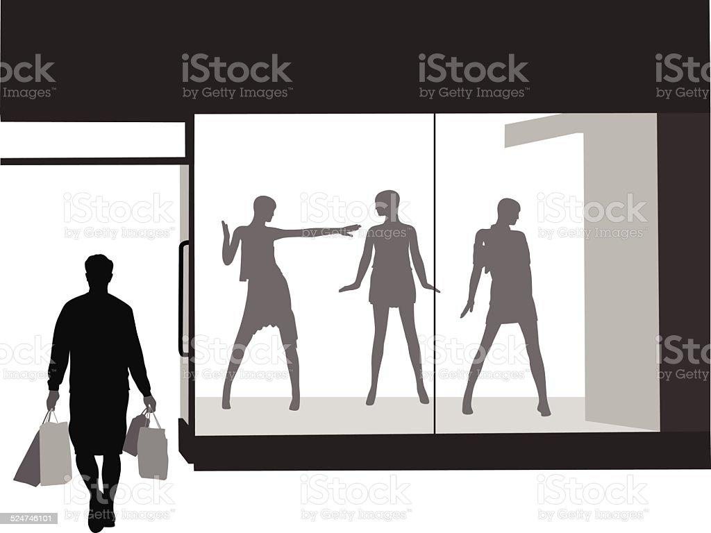 LastShop vector art illustration