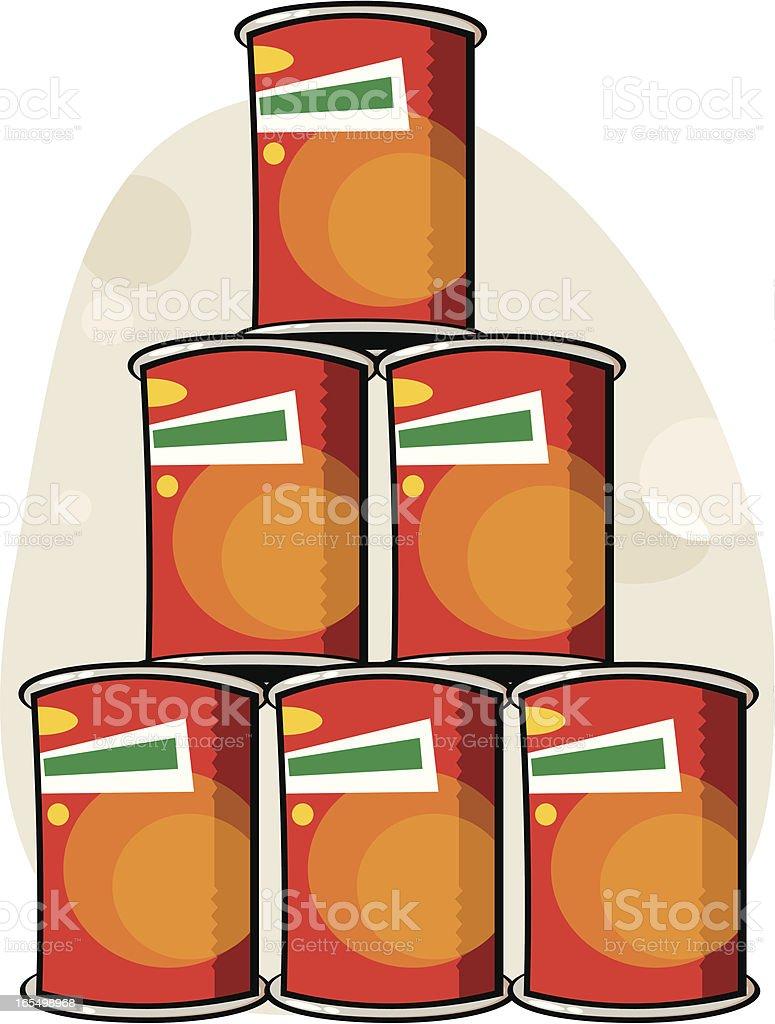 latas de conserva vector art illustration