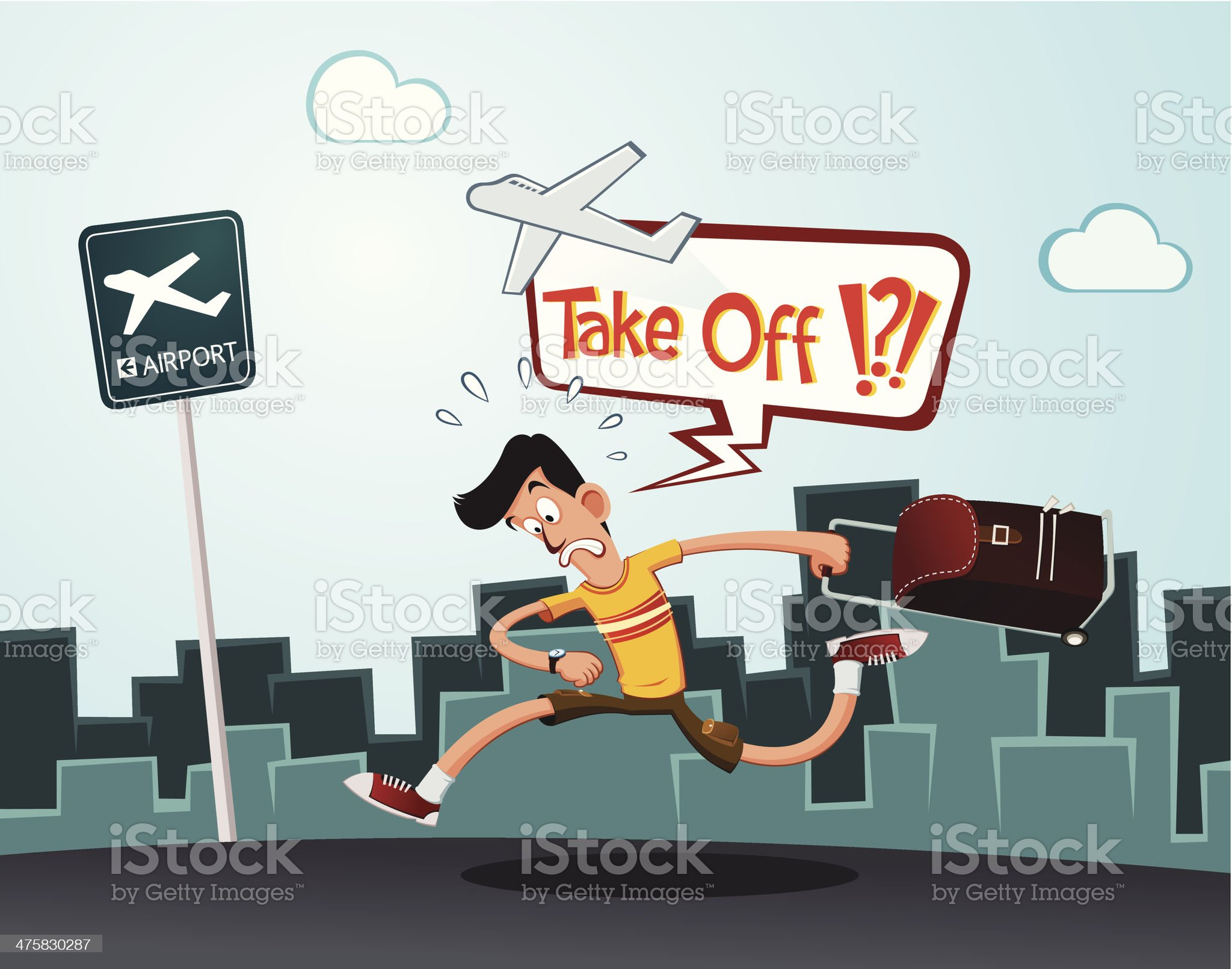 late for departure royalty-free stock vector art