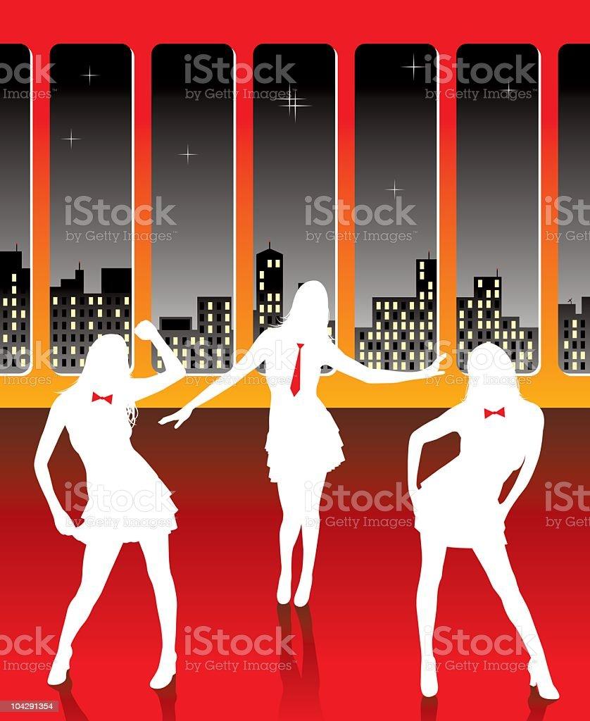 Late night dance royalty-free stock vector art
