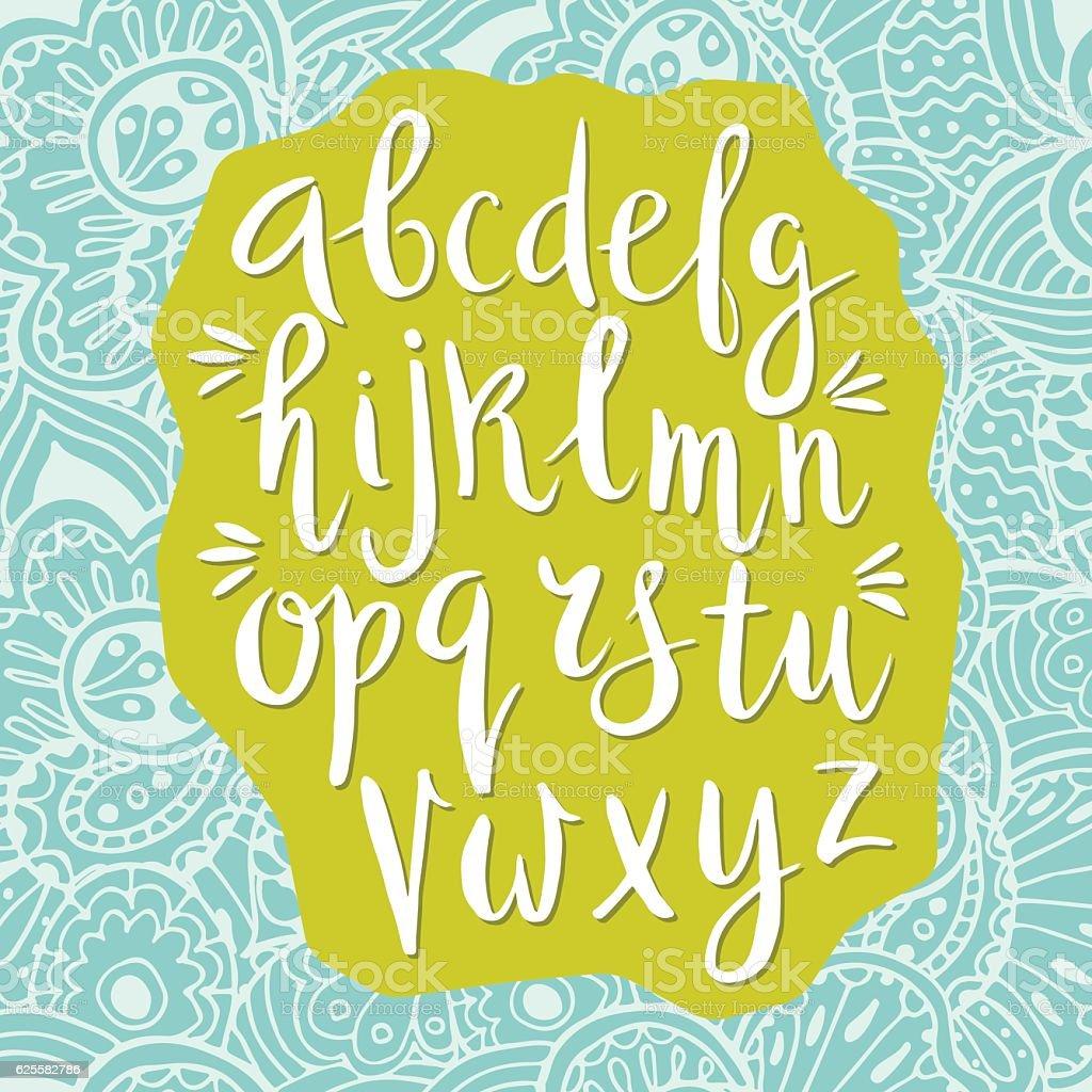 Latin alphabet drawn by hand. royalty-free stock vector art