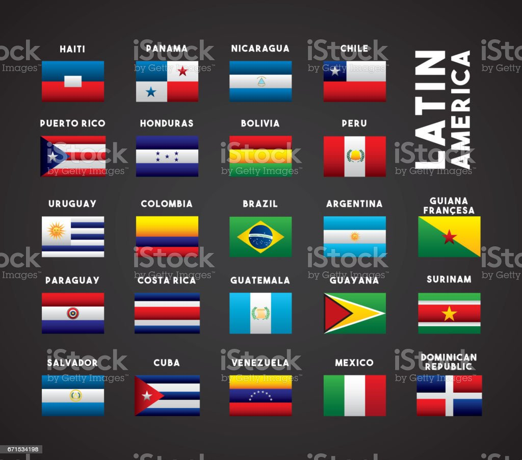 latin america countries vector art illustration