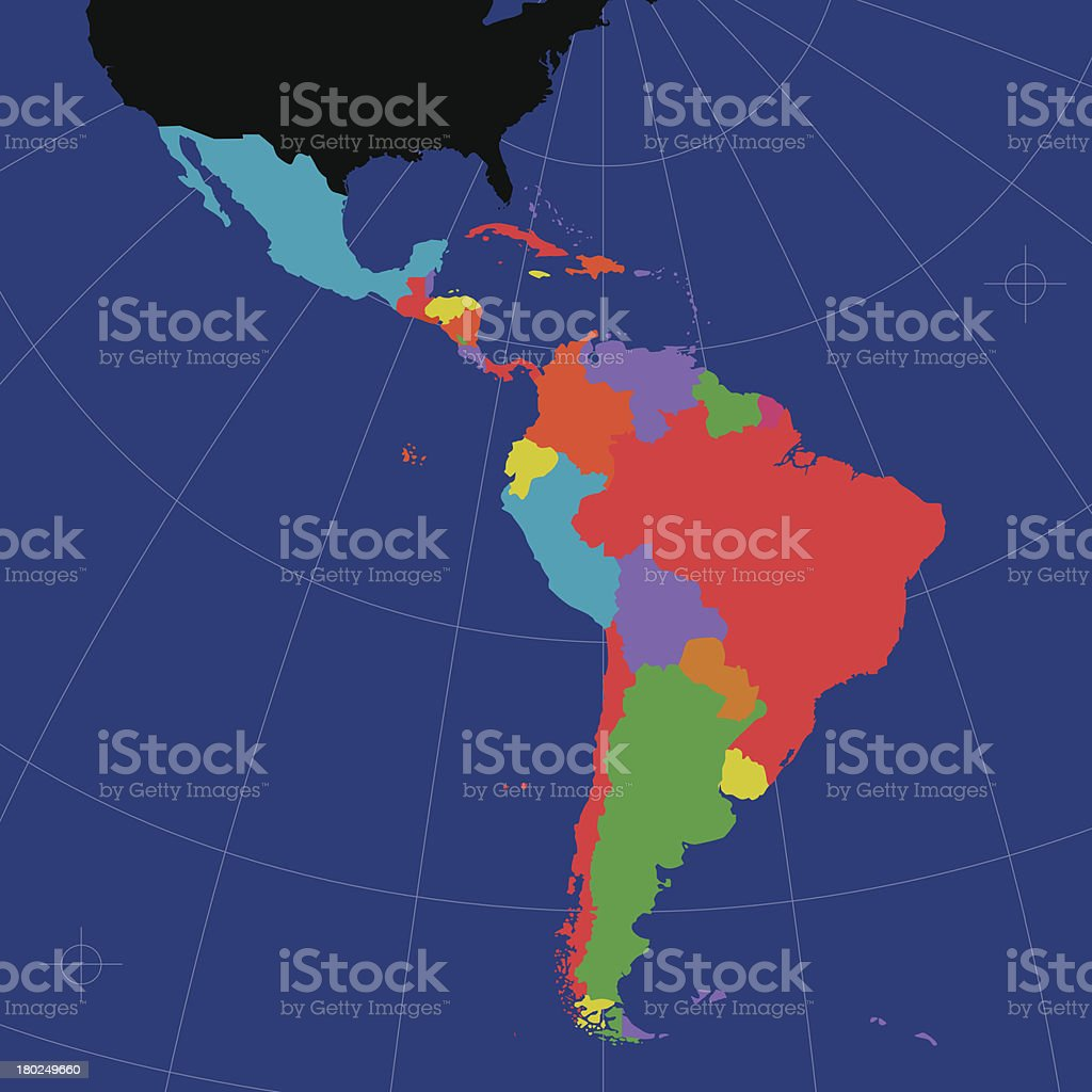 Latin and South America vector art illustration