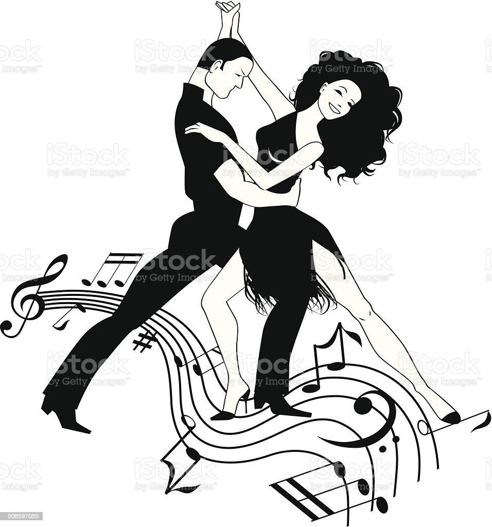 Latin dance clipart royalty-free stock vector art
