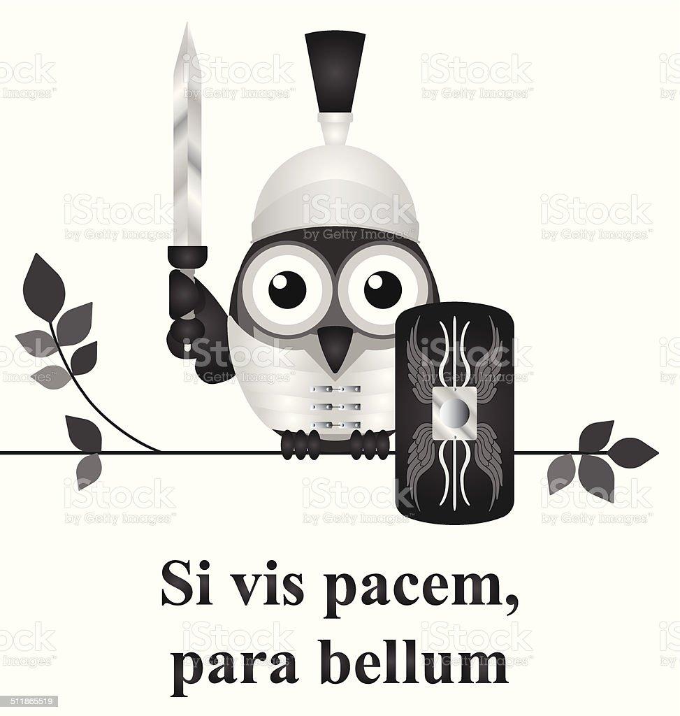 Latin prepare for war vector art illustration