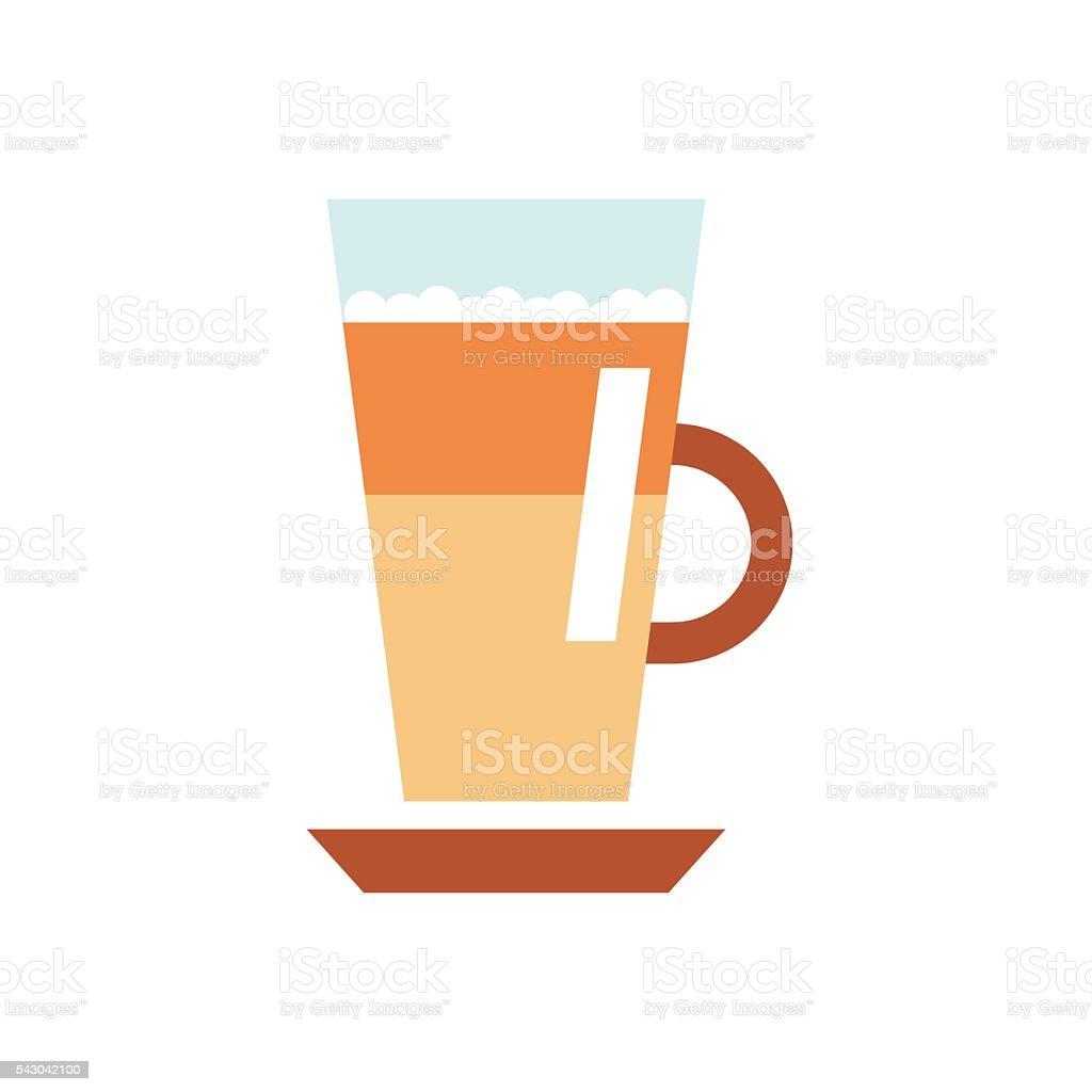 Latte coffee flat vector art illustration