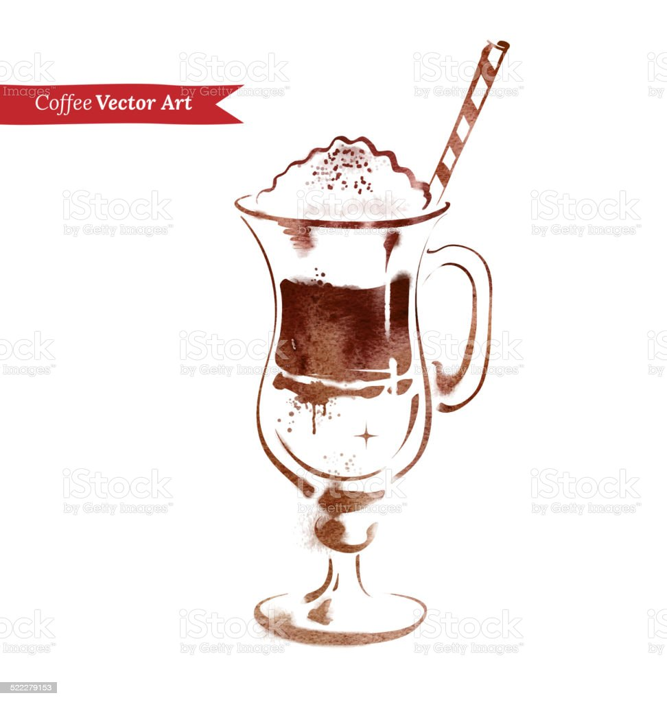 Latte. vector art illustration