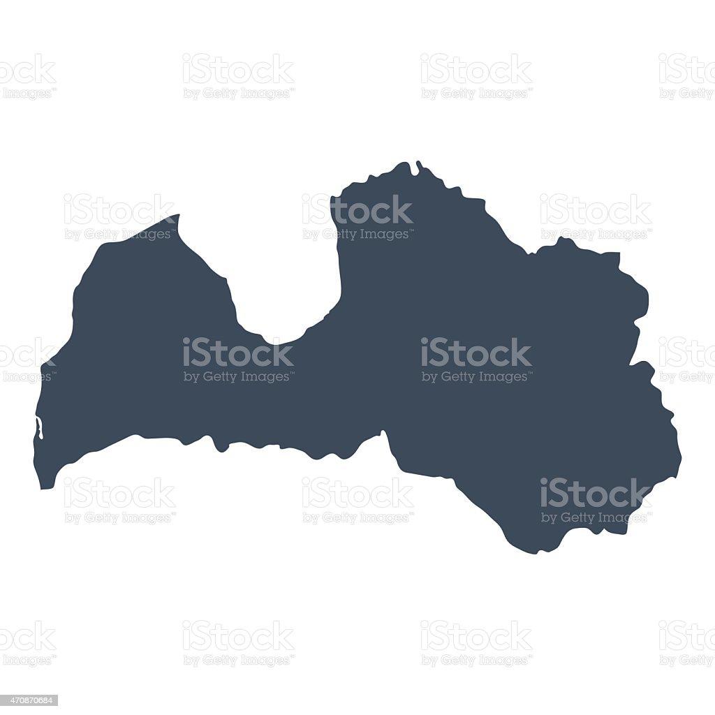 Latvia country map vector art illustration