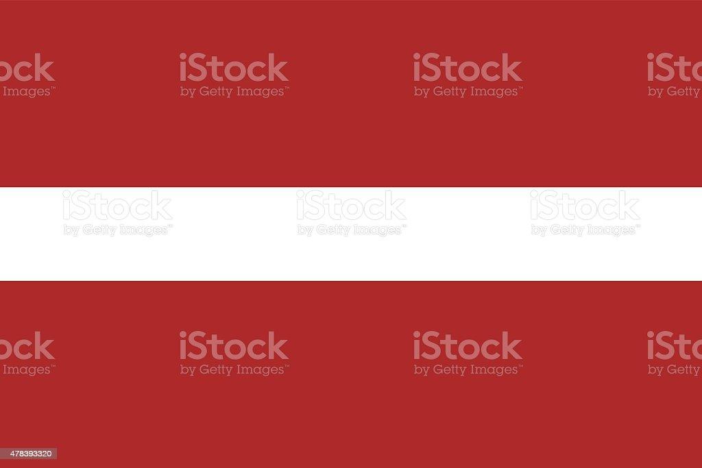 Latvia Flag vector art illustration