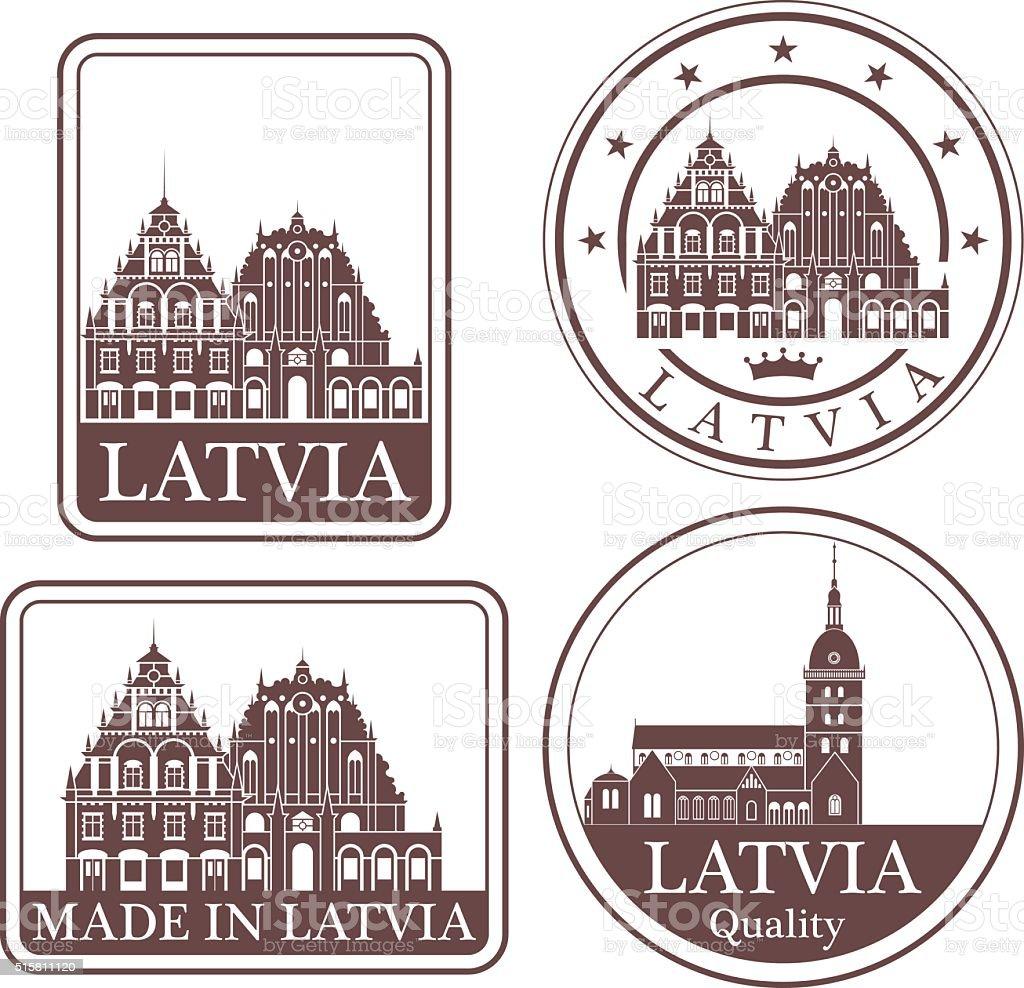 Latvia vector art illustration