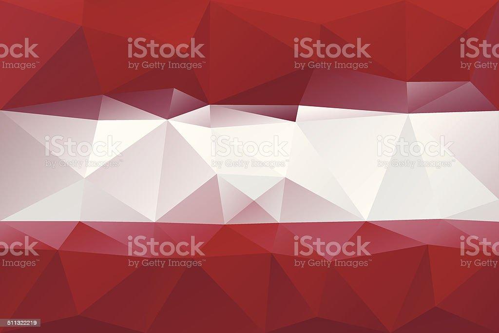 Latvian flag vector art illustration