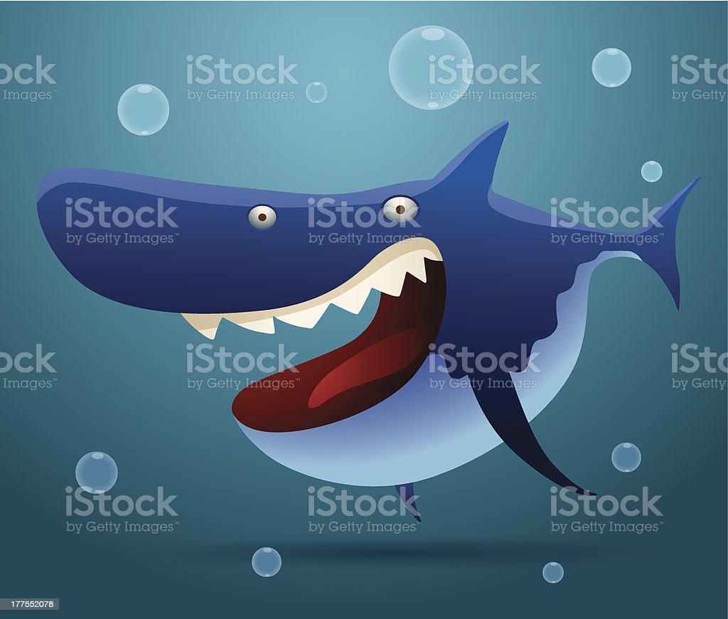 Laughing big shark royalty-free stock vector art