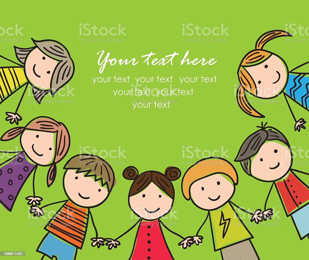 laughing children royalty-free stock vector art