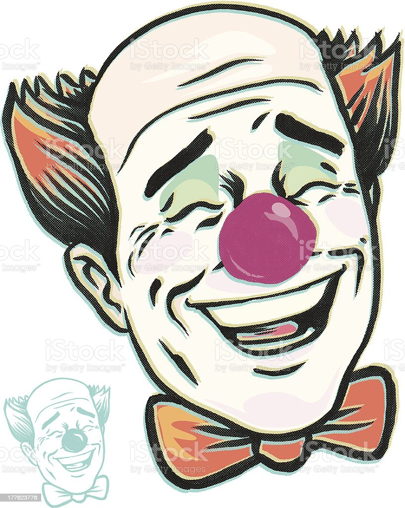 laughing clown LOL time vector art illustration