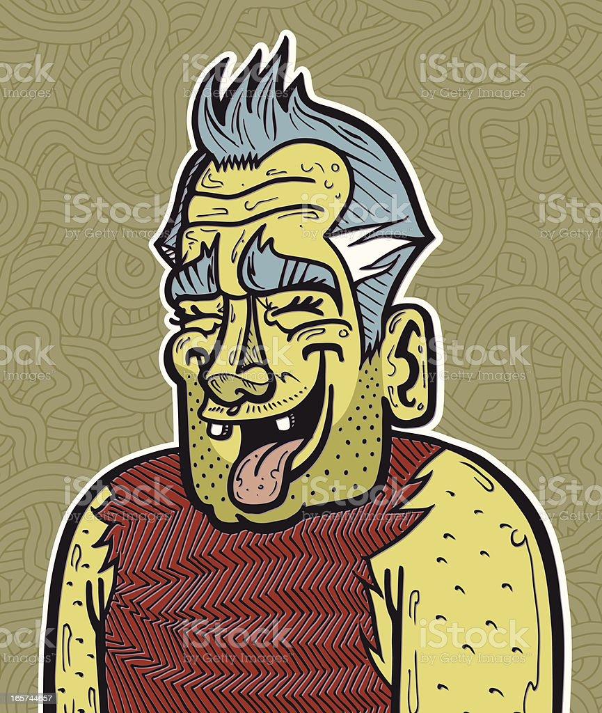 Laughing Man royalty-free stock vector art