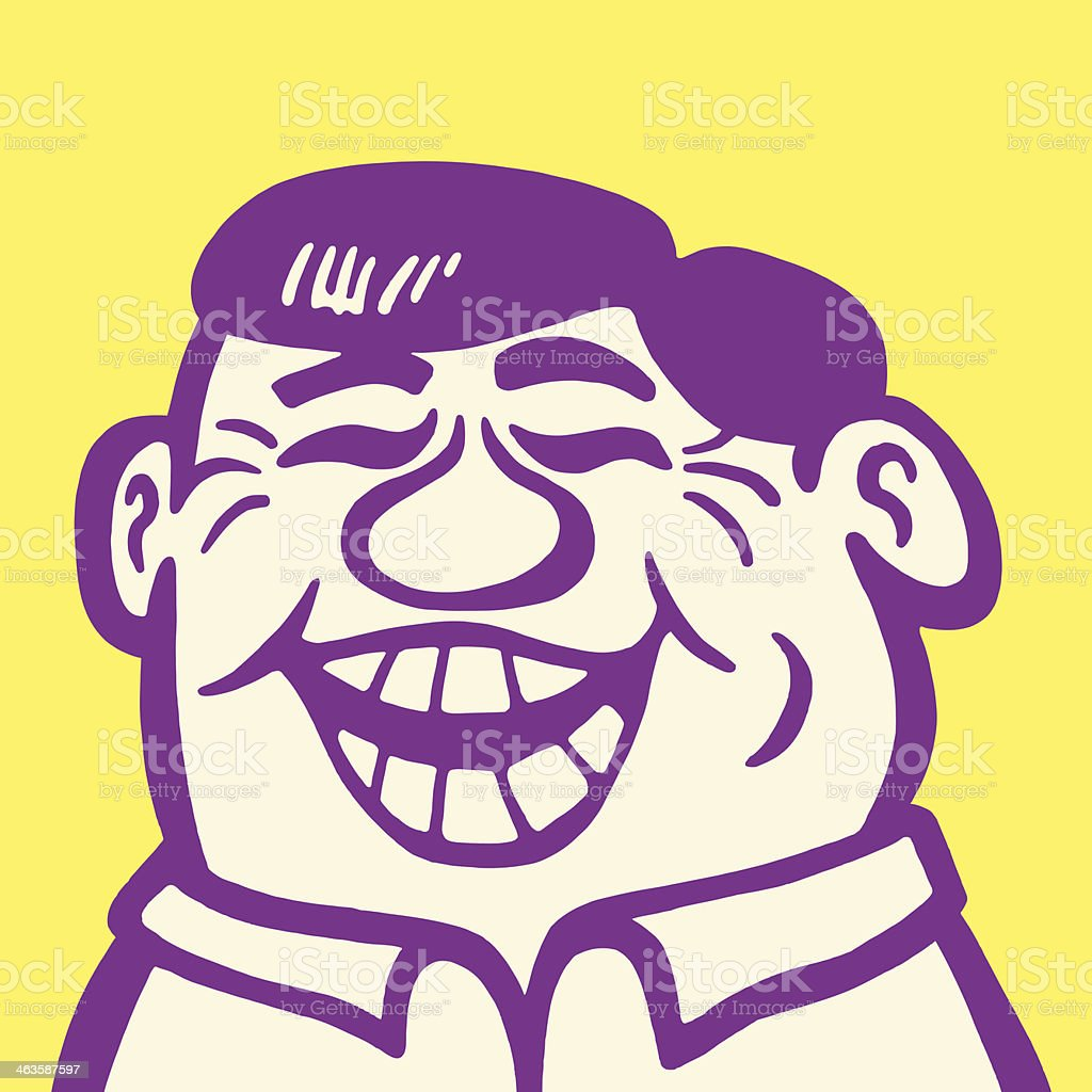 Laughing Man vector art illustration