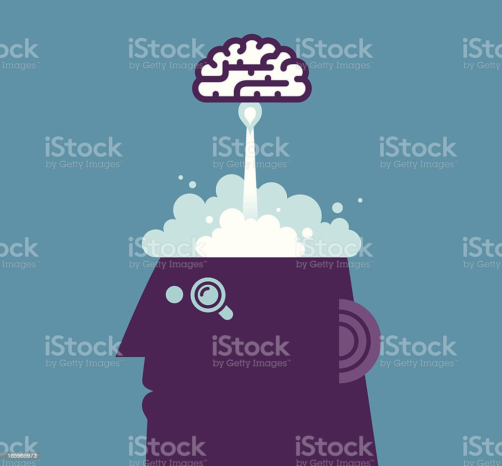 Launch Brain royalty-free stock vector art