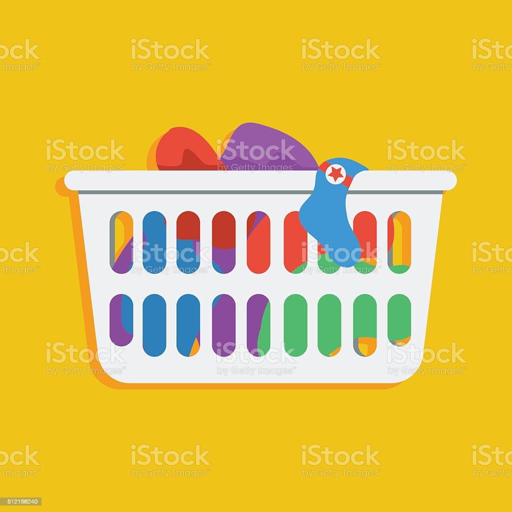 Laundry basket vector icon illustration vector art illustration