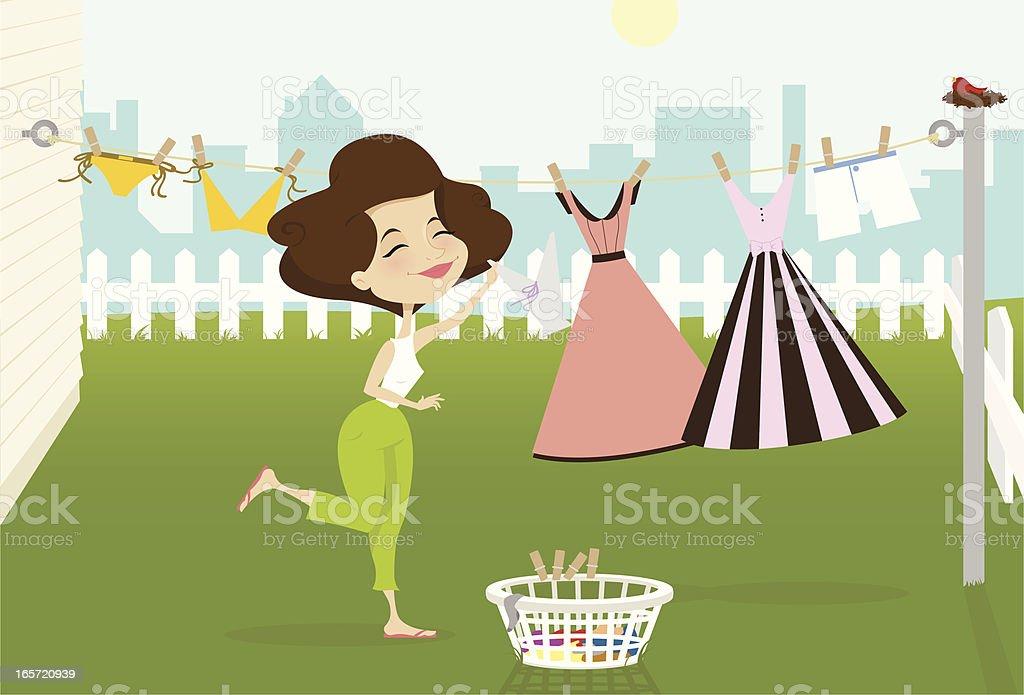 Laundry Day royalty-free stock vector art