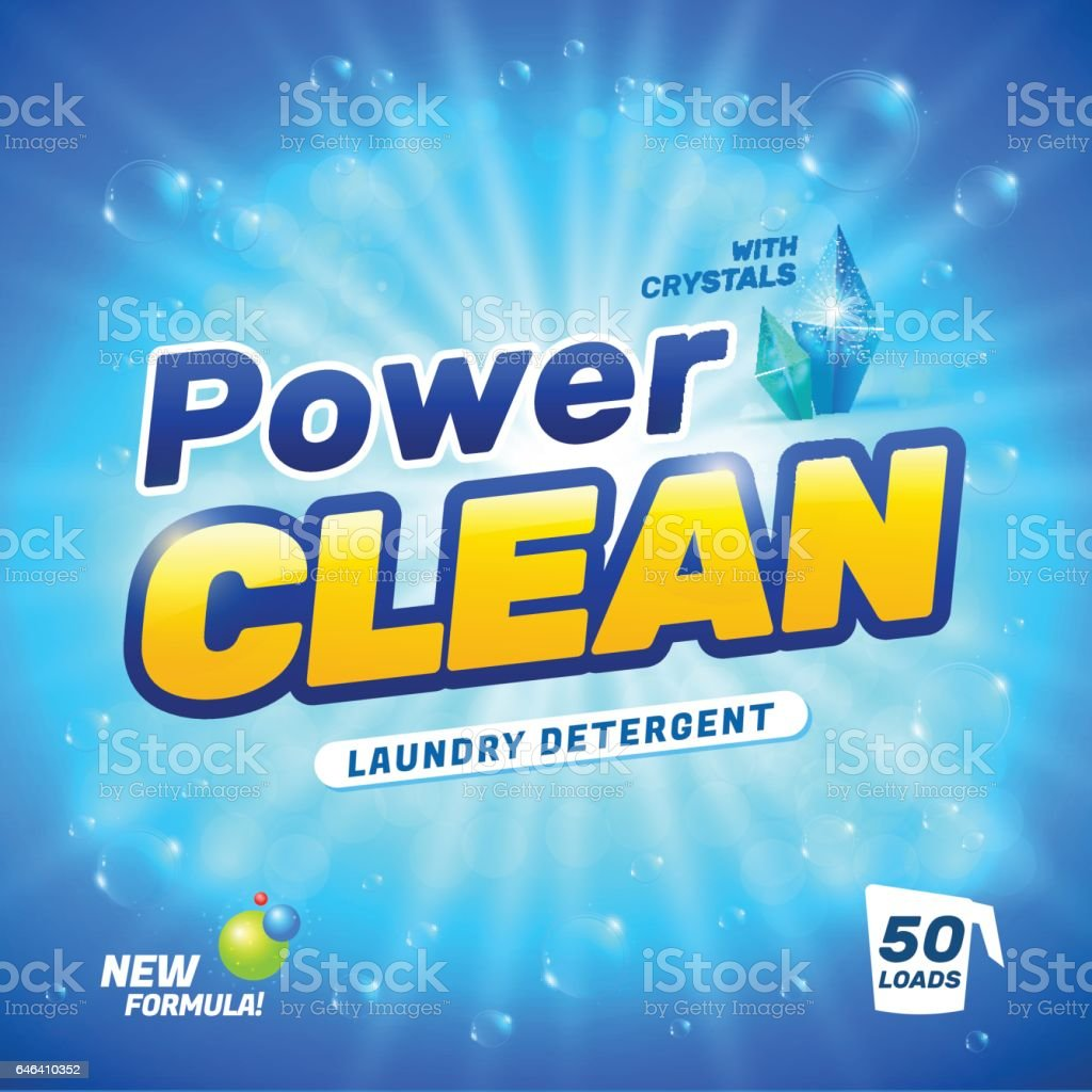Laundry detergent package vector art illustration