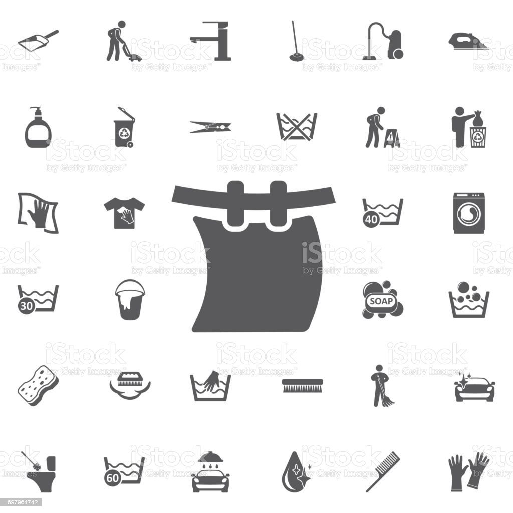 Laundry on a Rope icon. vector art illustration