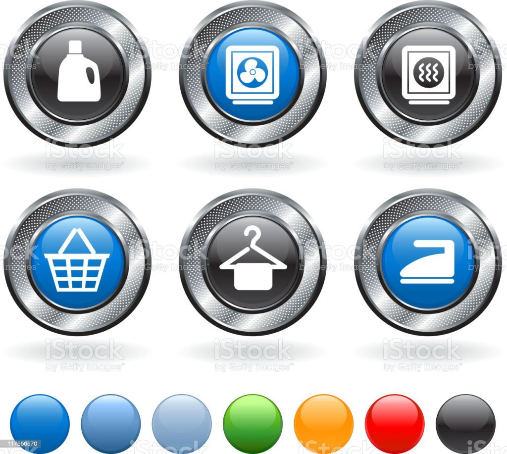 Laundry royalty free vector icon set royalty-free stock vector art