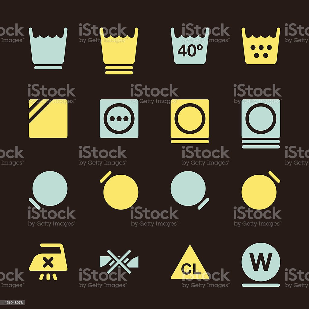 Laundry Sign Icons Set 2 - Color Series   EPS10 vector art illustration