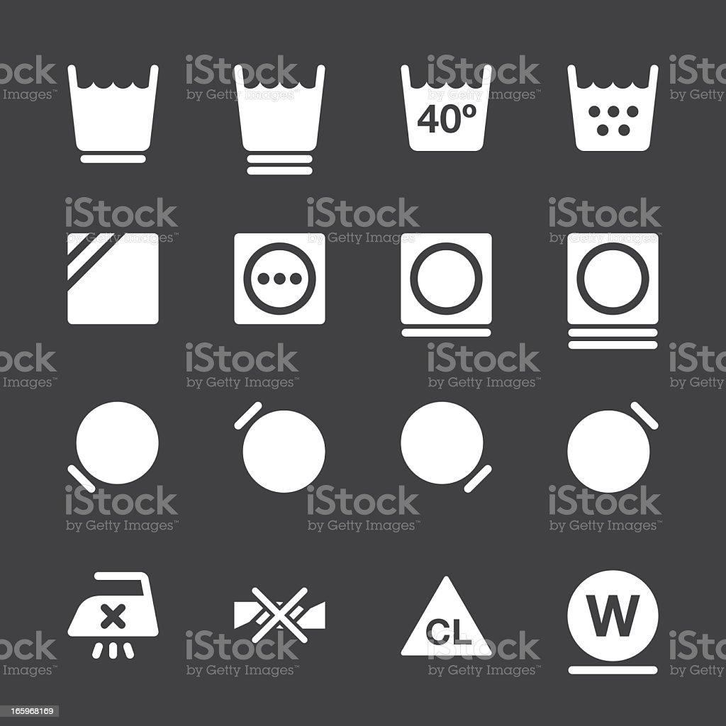Laundry Sign Icons Set 2 - White Series   EPS10 vector art illustration