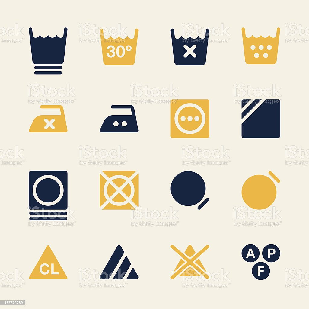 Laundry Sign Icons Set 3 - Color Series   EPS10 vector art illustration