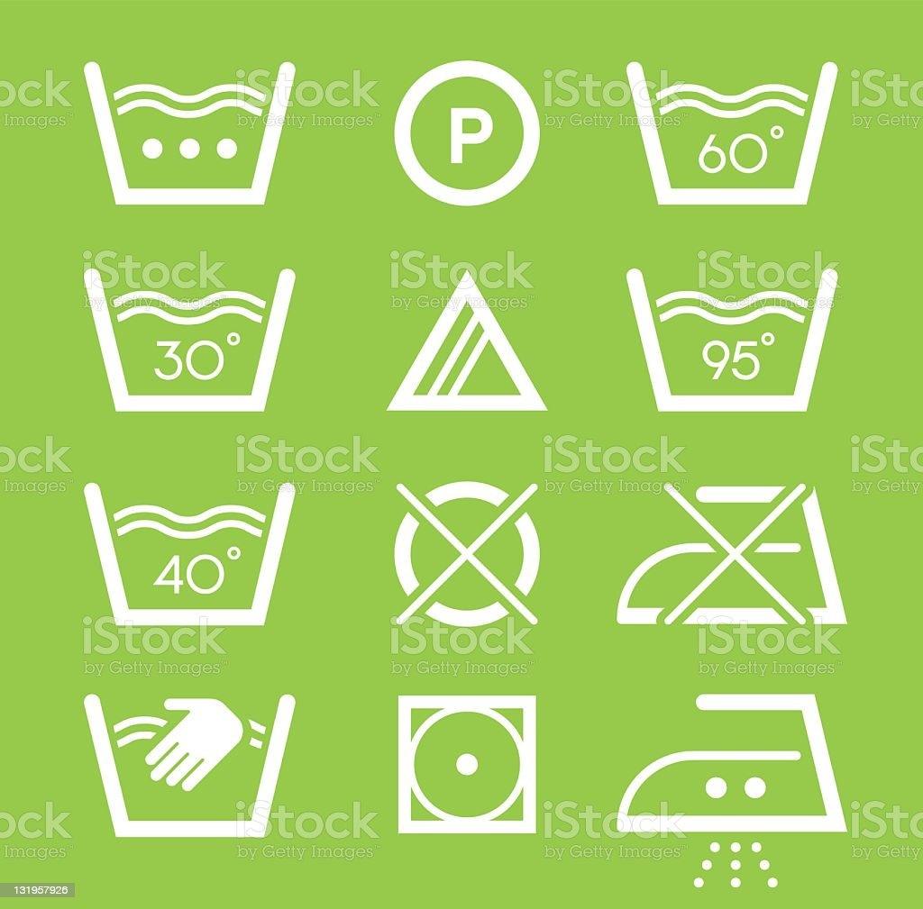 Laundry symbols royalty-free stock vector art