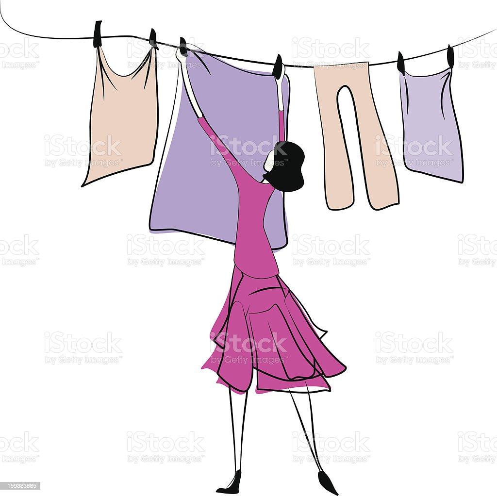 Laundry royalty-free stock vector art