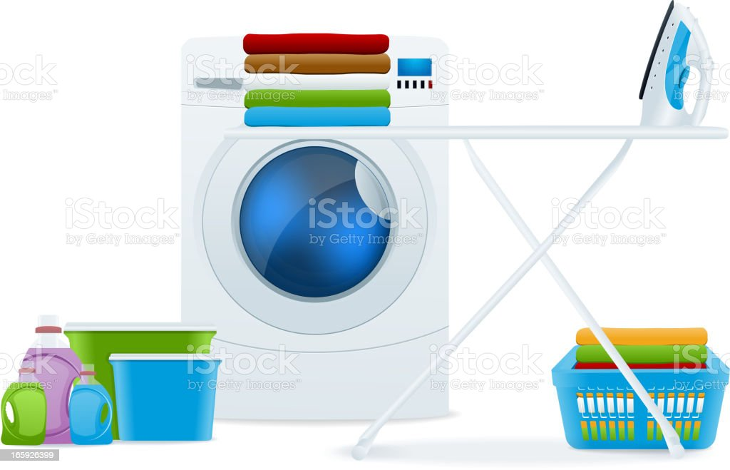 Laundry vector art illustration