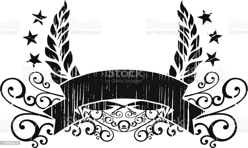 laurel grunge banner royalty-free stock vector art