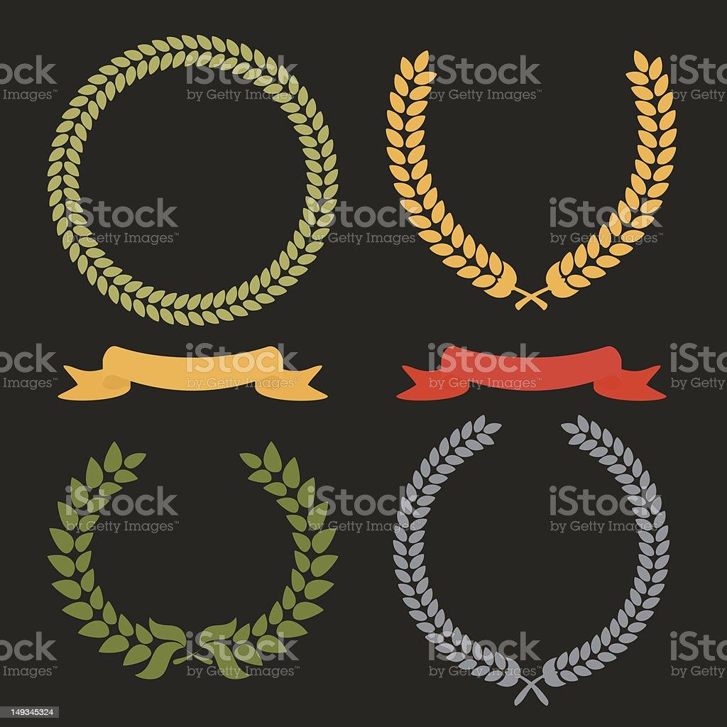 Laurel Leaf Wreath royalty-free stock vector art