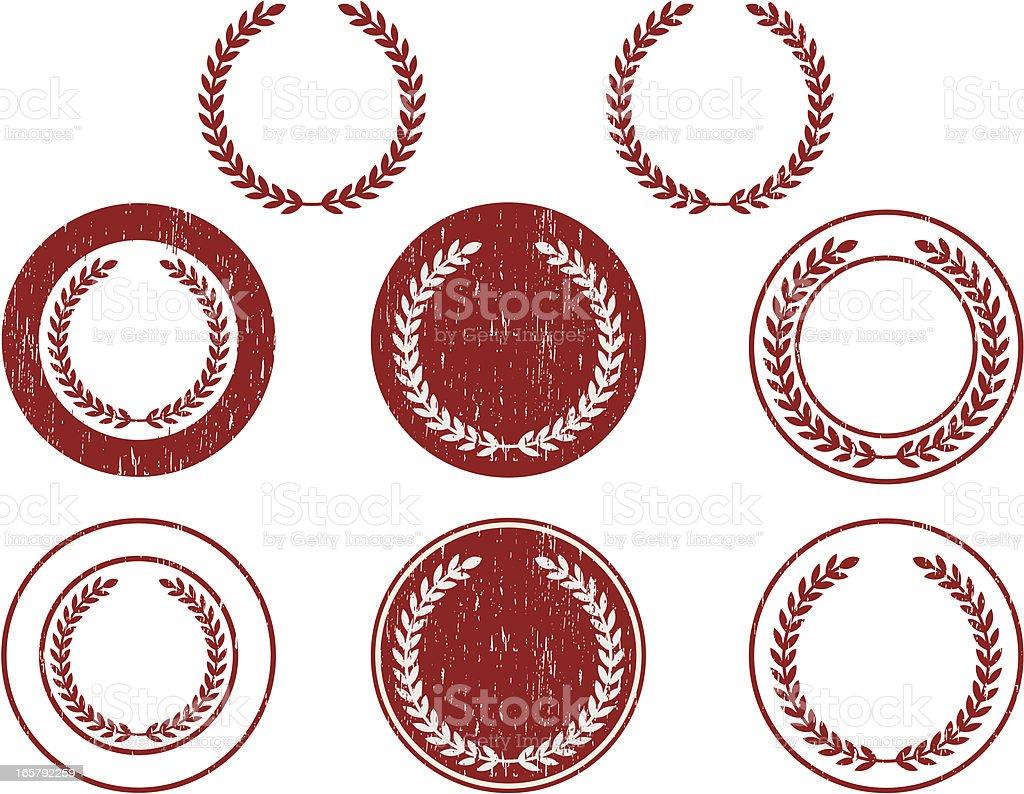 laurel set royalty-free stock vector art