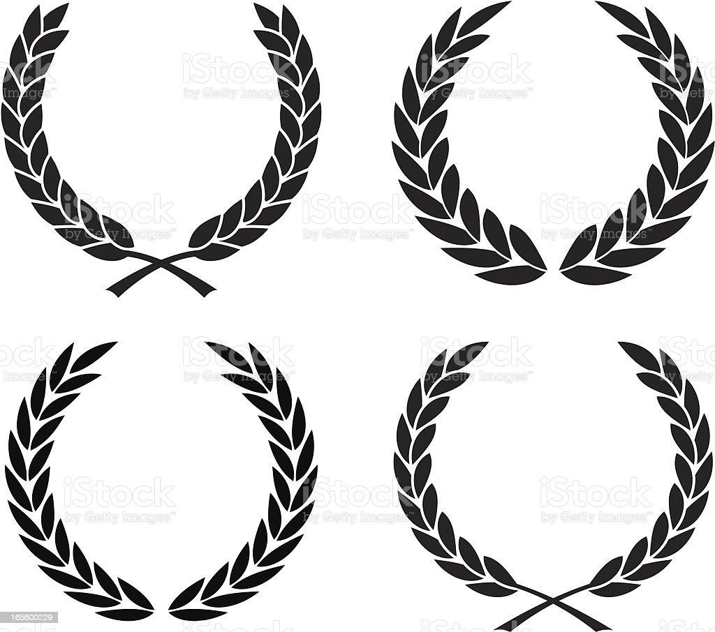 Laurel wreath assortment royalty-free stock vector art