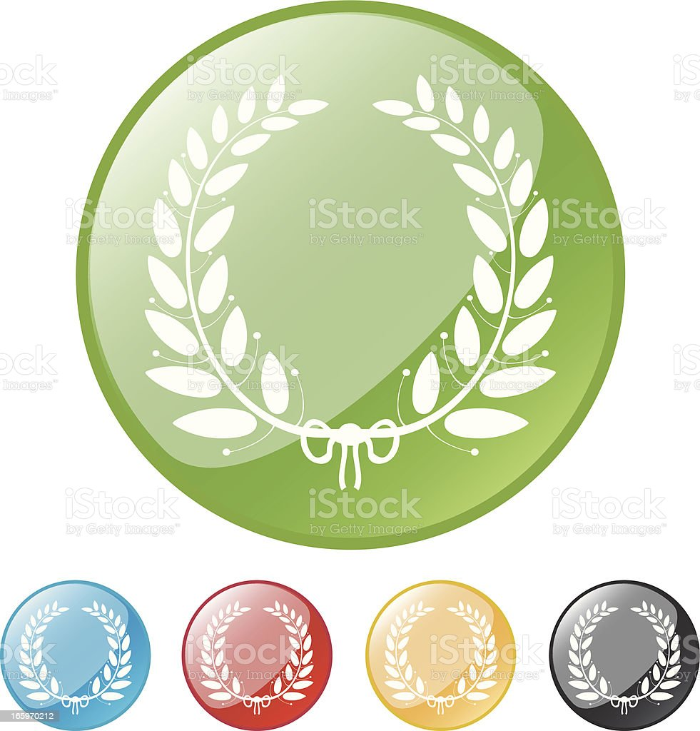 Laurel Wreath Button royalty-free stock vector art