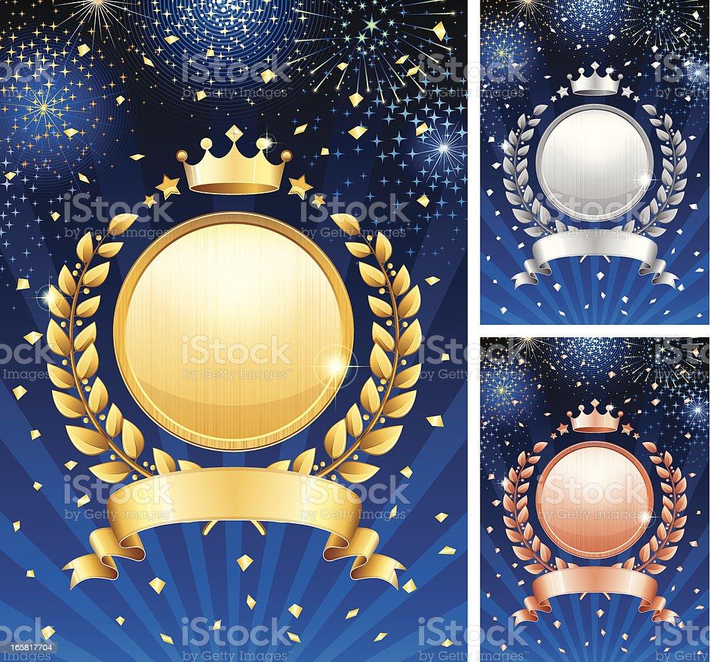 Laurel wreath celebration royalty-free stock vector art