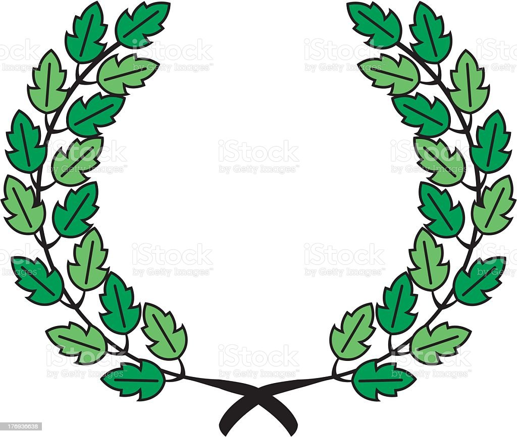Laurel Wreath Emblem royalty-free stock vector art