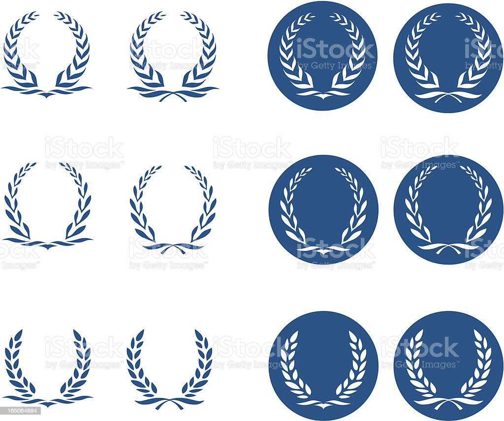 Laurel Wreath Logos royalty-free stock vector art