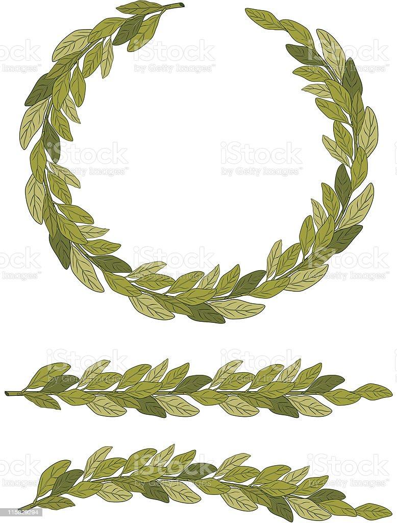 Laurel Wreath (vector) royalty-free stock vector art