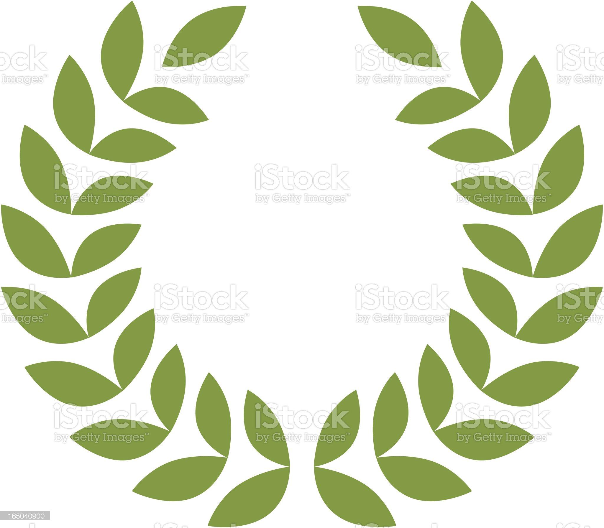 Laurel Wreath royalty-free stock vector art