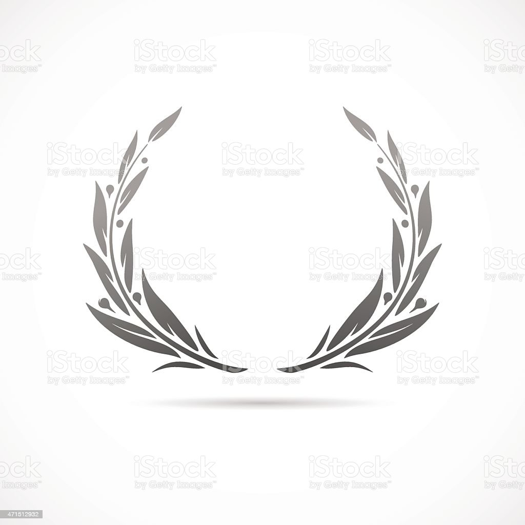 laurel wreath vector art illustration