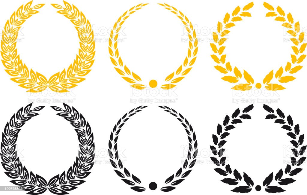 Laurel wreathes royalty-free stock vector art
