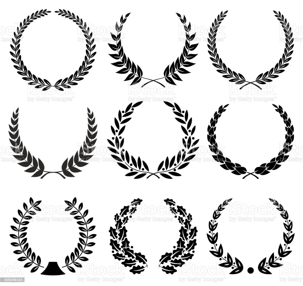 Laurel Wreaths Set - illustration vector art illustration